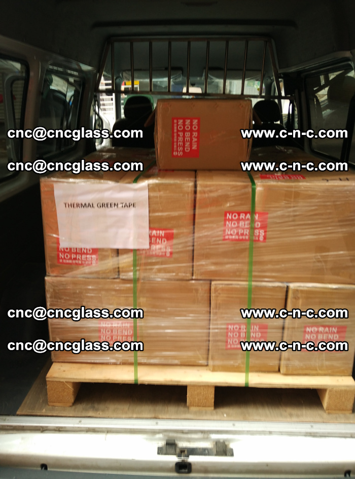 Safety glazing green thermal tape Packing and loading (6)