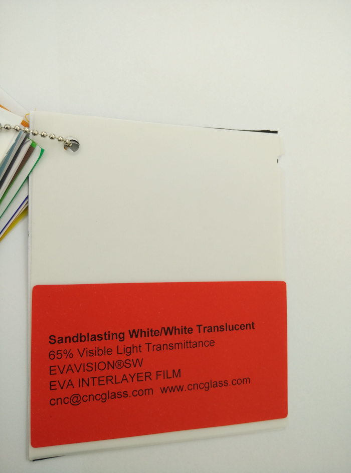 Sandblasting White Ethylene Vinyl Acetate Copolymer EVA interlayer film for laminated glass safety glazing (14)