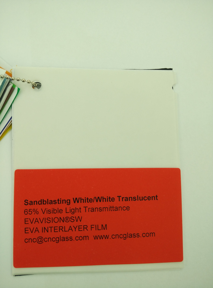 Sandblasting White Ethylene Vinyl Acetate Copolymer EVA interlayer film for laminated glass safety glazing (4)
