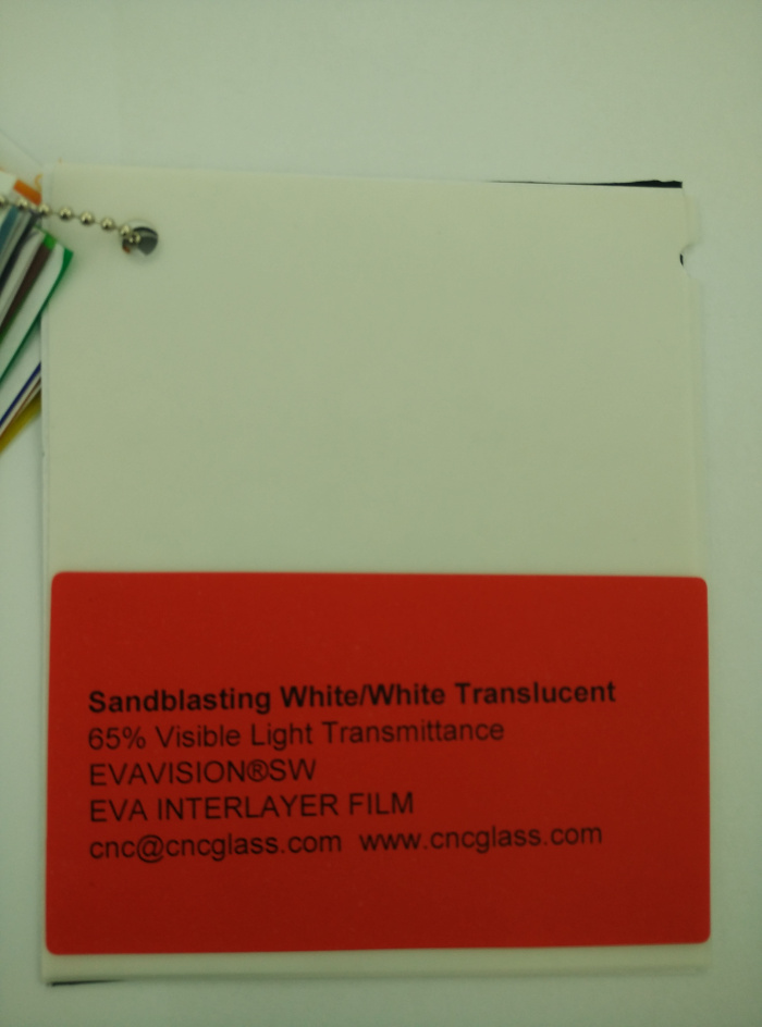 Sandblasting White Ethylene Vinyl Acetate Copolymer EVA interlayer film for laminated glass safety glazing (8)