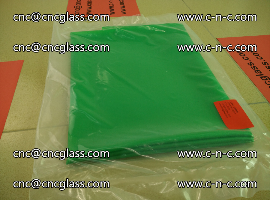 EVA glass interlayer film transparent color LIGHT green (1)