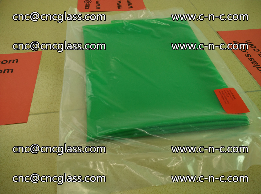 EVA glass interlayer film transparent color LIGHT green (3)