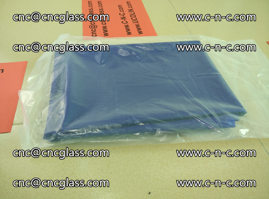 EVA glass interlayer film transparent color blue (1)