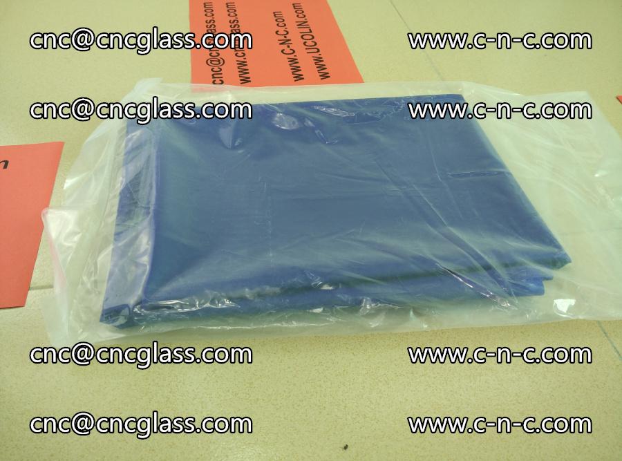 EVA glass interlayer film transparent color blue (1)