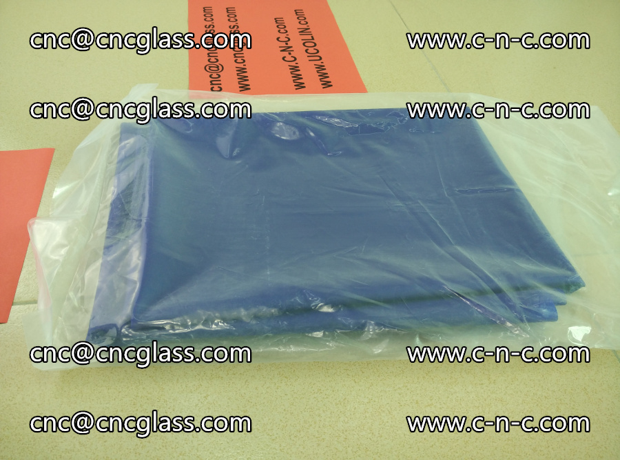 EVA glass interlayer film transparent color blue (2)