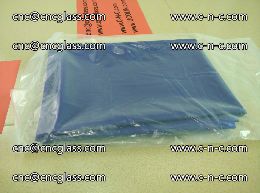 EVA glass interlayer film transparent color blue (3)