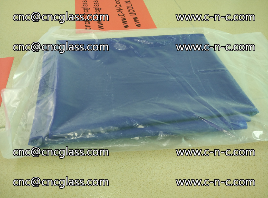 EVA glass interlayer film transparent color blue (5)