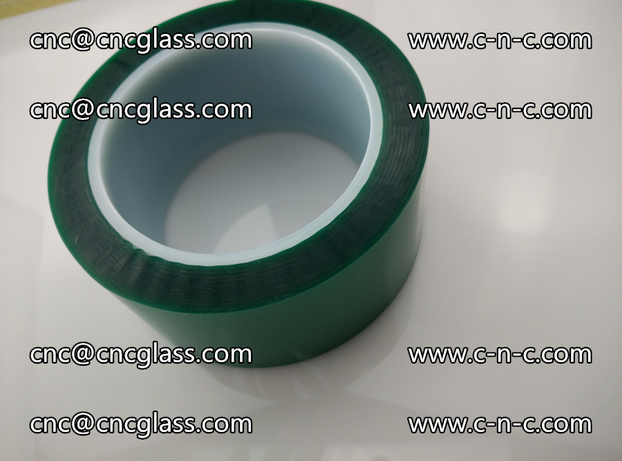 PET GREEN TAPE for laminated glass safety glazing (30)