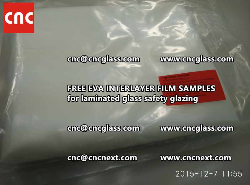 CROSS LINKED EVA INTERLAYER samples for safety glass laminated (15)