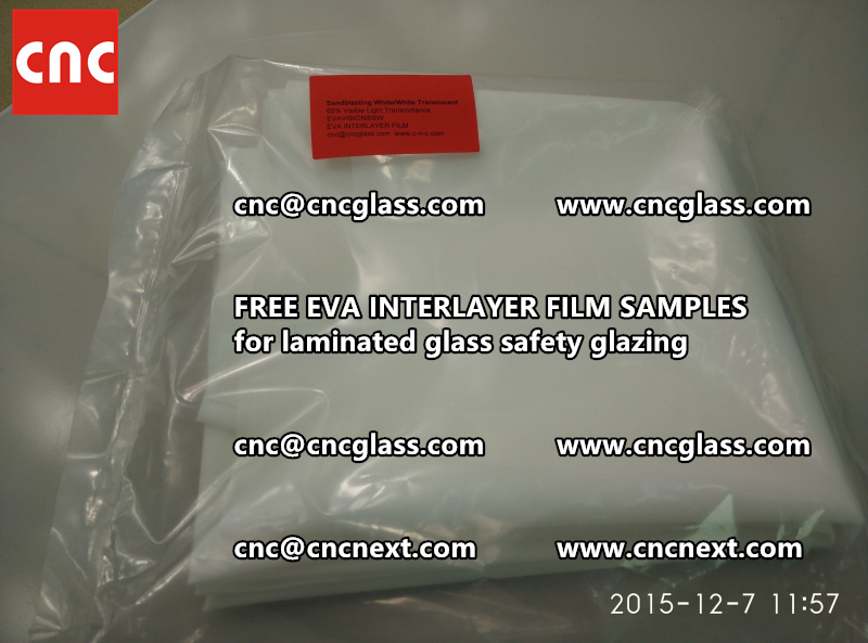 CROSS LINKED EVA INTERLAYER samples for safety glass laminated (18)