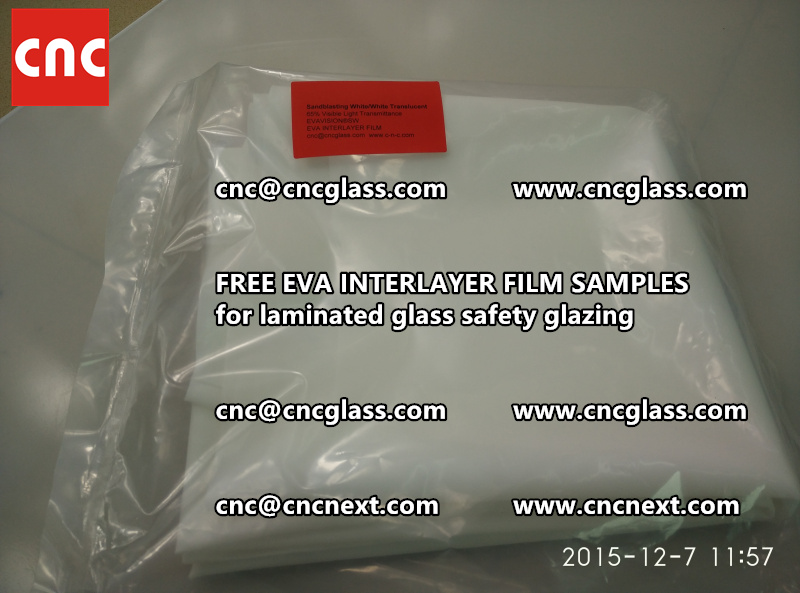 CROSS LINKED EVA INTERLAYER samples for safety glass laminated (20)