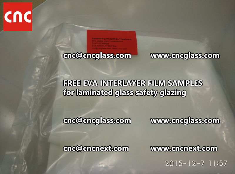 CROSS LINKED EVA INTERLAYER samples for safety glass laminated (23)