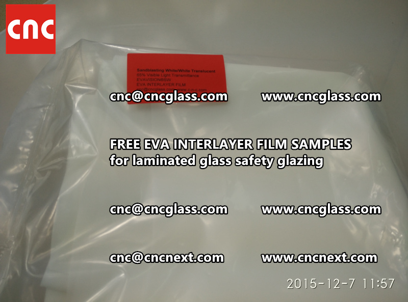 CROSS LINKED EVA INTERLAYER samples for safety glass laminated (24)