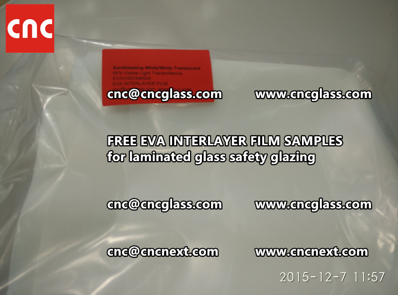 CROSS LINKED EVA INTERLAYER samples for safety glass laminated (26)