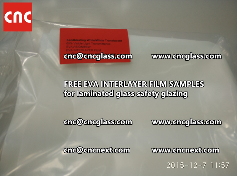 CROSS LINKED EVA INTERLAYER samples for safety glass laminated (27)