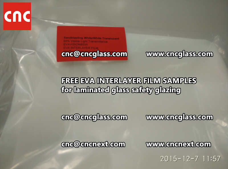 CROSS LINKED EVA INTERLAYER samples for safety glass laminated (28)