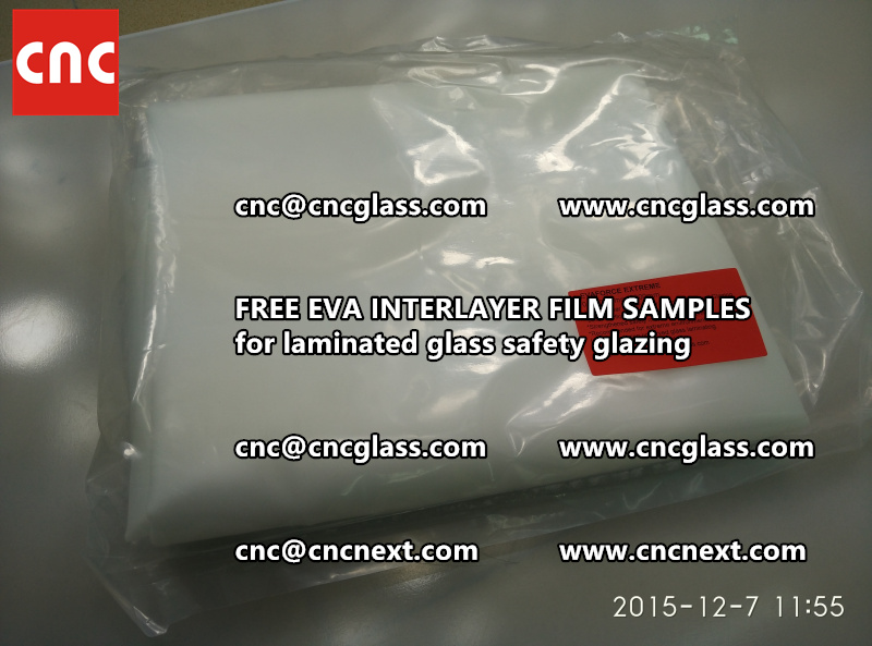 CROSS LINKED EVA INTERLAYER samples for safety glass laminated (3)