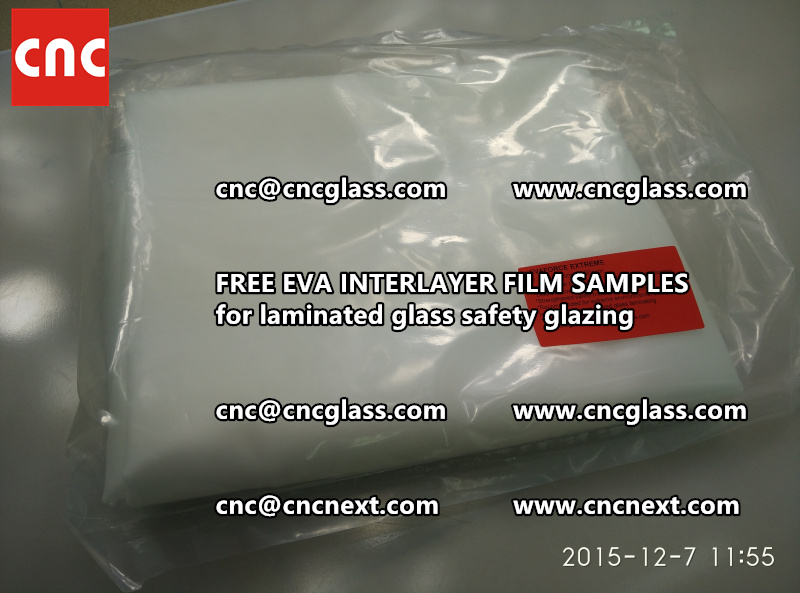 CROSS LINKED EVA INTERLAYER samples for safety glass laminated (4)