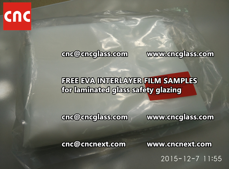 CROSS LINKED EVA INTERLAYER samples for safety glass laminated (7)