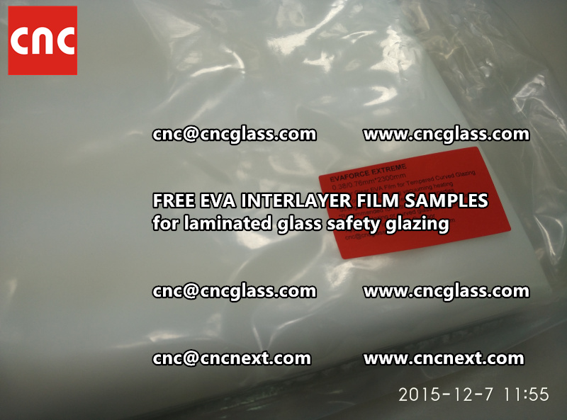 CROSS LINKED EVA INTERLAYER samples for safety glass laminated (9)