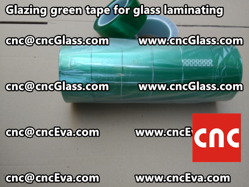 Green tape for safety glass laminating glazing (2)