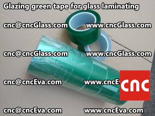 Green tape for safety glass laminating glazing (9)