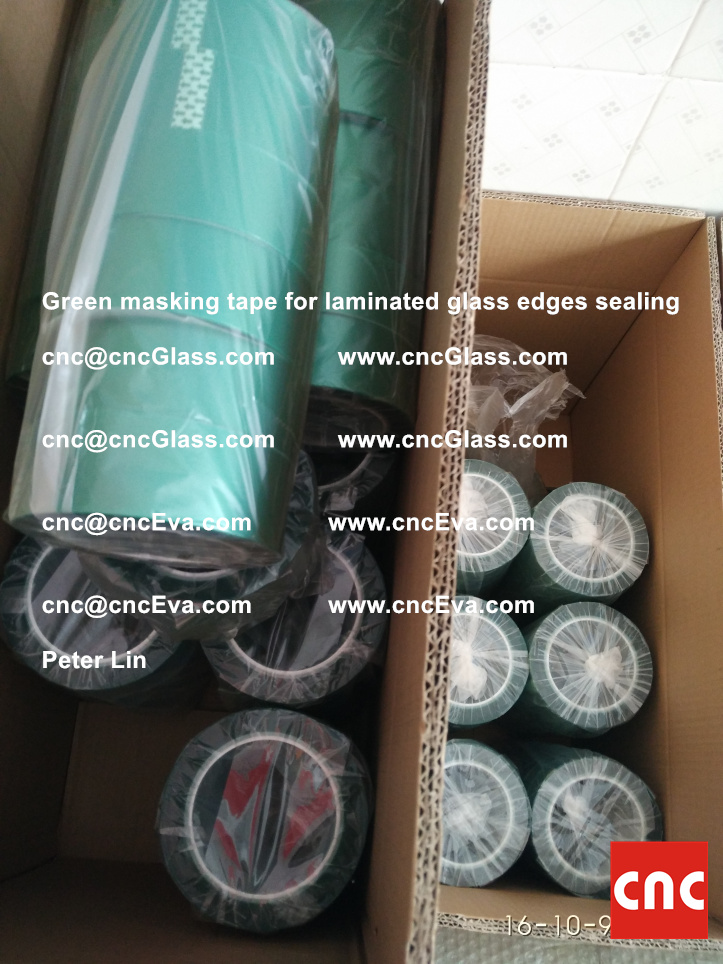 green-masking-tape-for-laminated-glass-edges-sealing-13