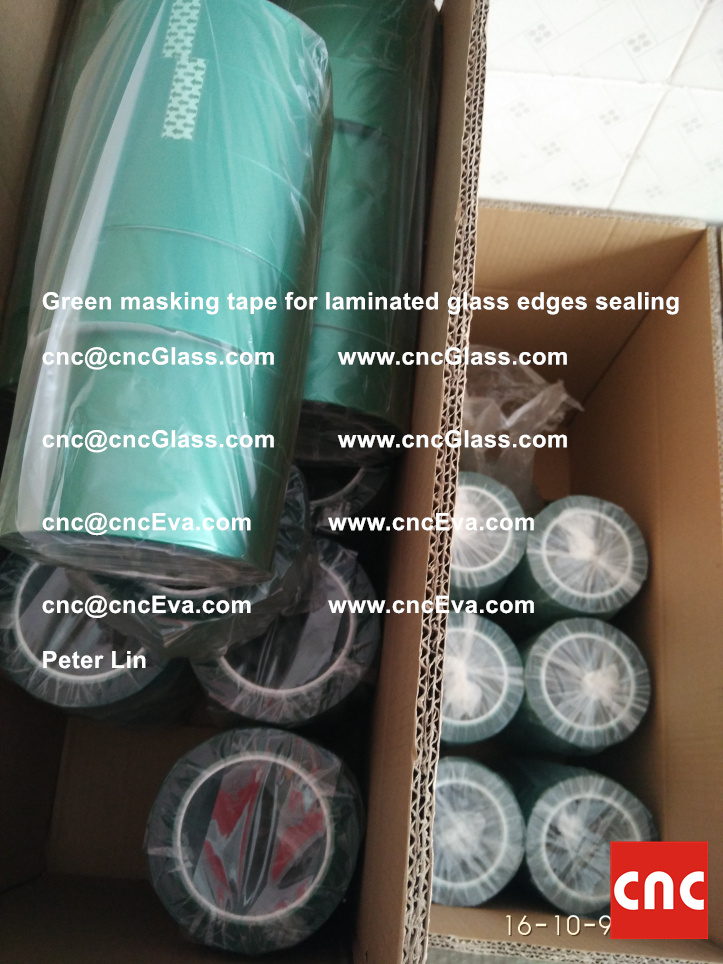 green-masking-tape-for-laminated-glass-edges-sealing-14