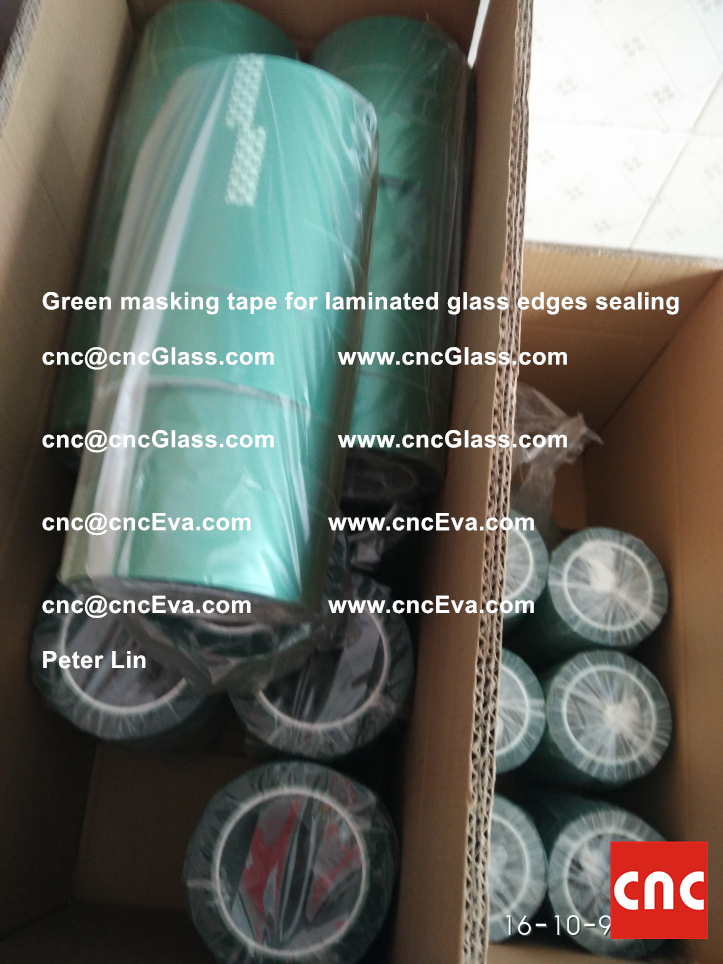 green-masking-tape-for-laminated-glass-edges-sealing-2