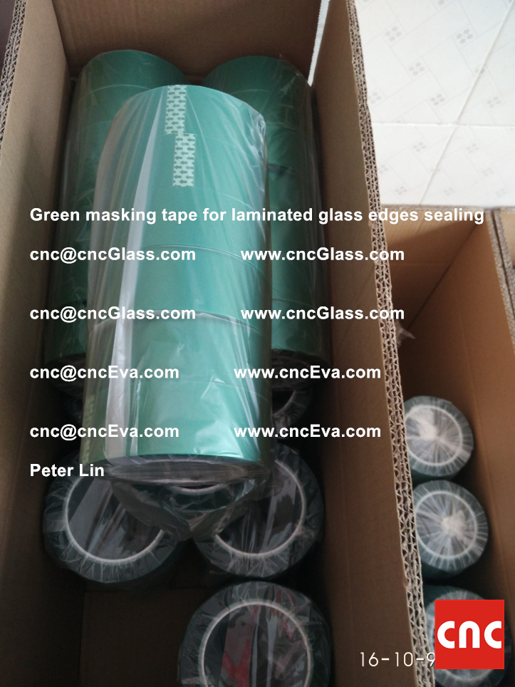 green-masking-tape-for-laminated-glass-edges-sealing-4